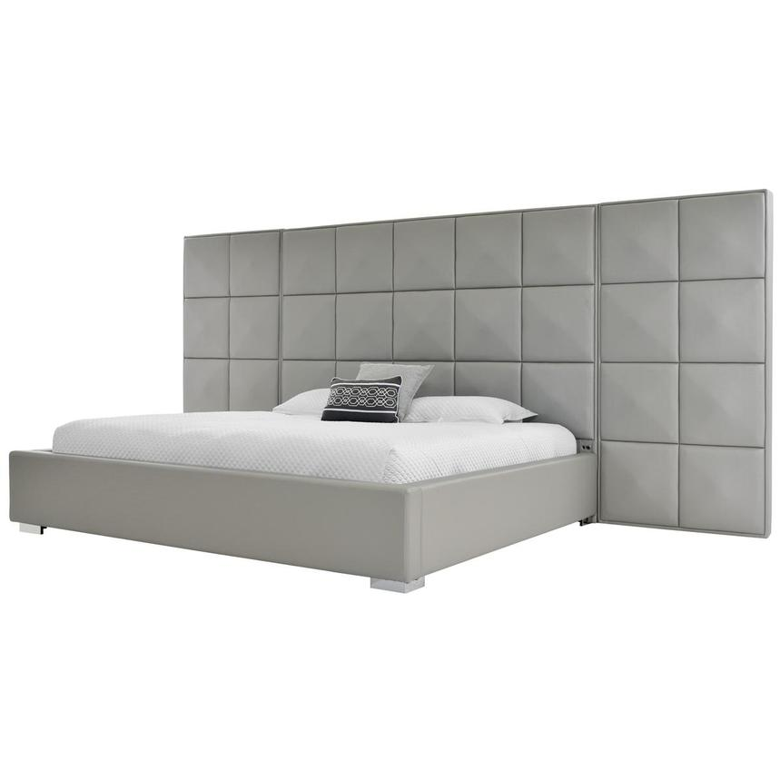 Lux Suite Gray King Platform Bed  main image, 1 of 6 images.