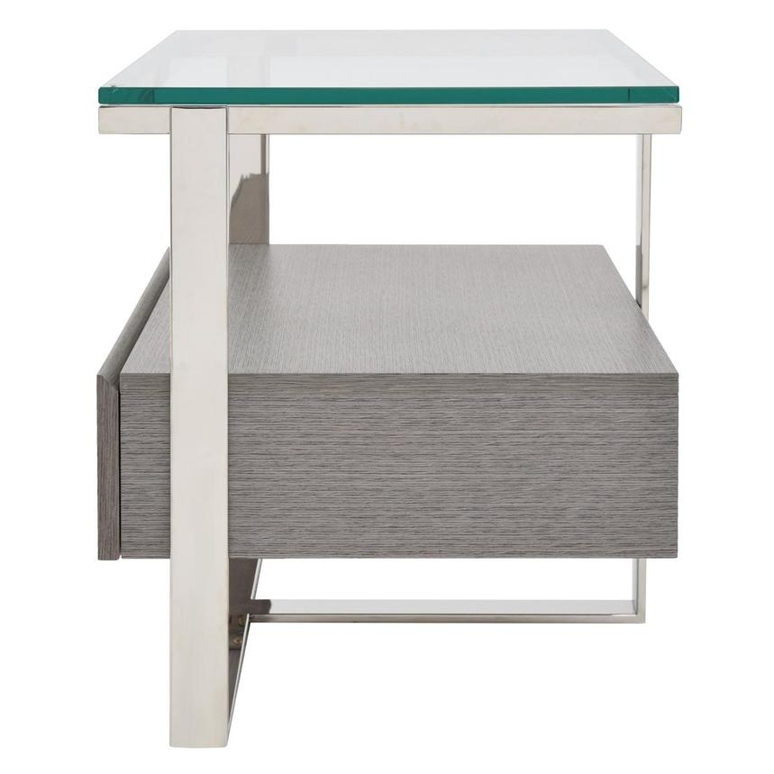 Calypso Matte Gray Side Table  alternate image, 4 of 7 images.