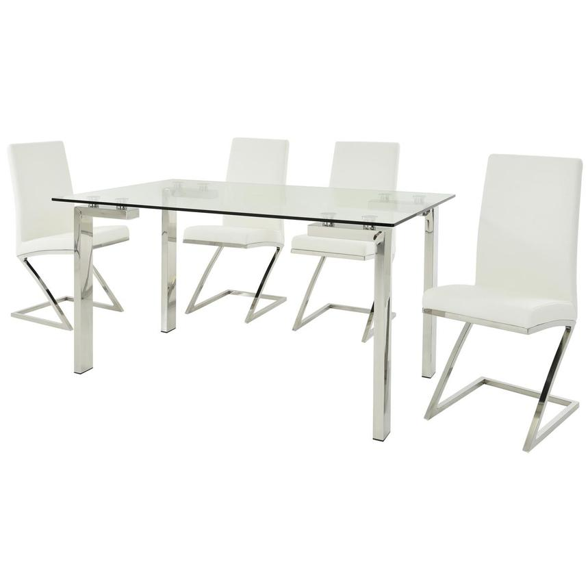 Julli/Jade White 5-Piece Casual Dining Set  alternate image, 2 of 11 images.