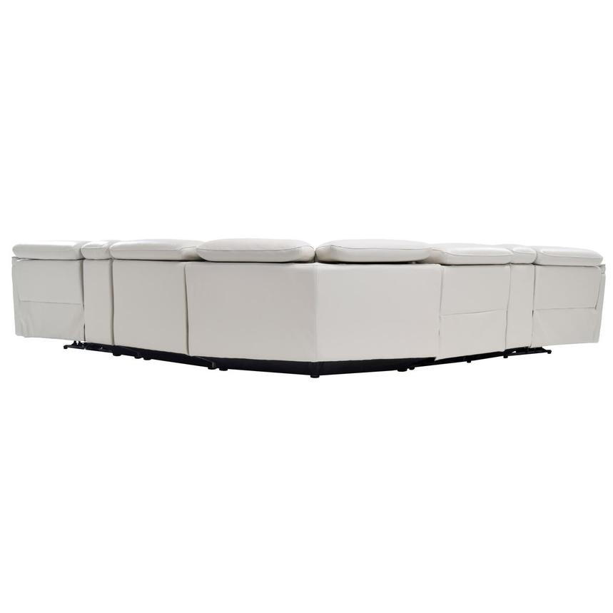 Austin White Leather Power Reclining Sectional  alternate image, 4 of 10 images.