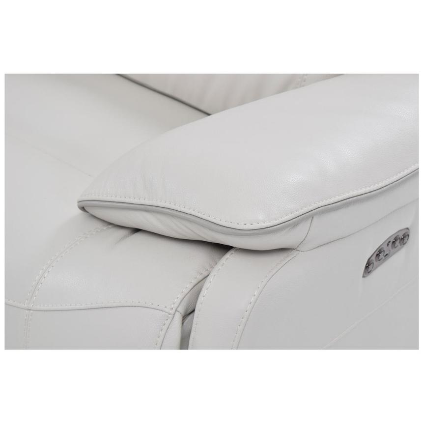 Austin White Leather Power Reclining Sectional  alternate image, 7 of 8 images.