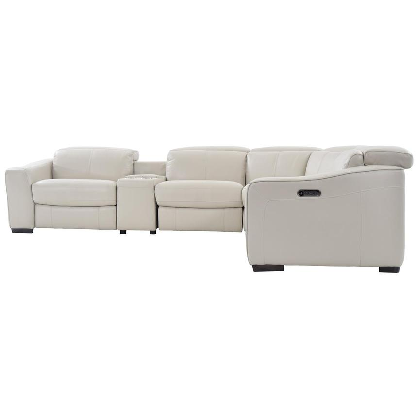 Jay Cream Power Motion Leather Sofa w/Right & Left Recliners  alternate image, 3 of 7 images.