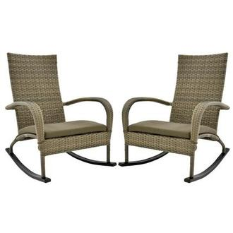 Neilina Brown Rocking Chair Set of 2