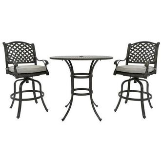 Castle Rock Gray 3-Piece Patio Set