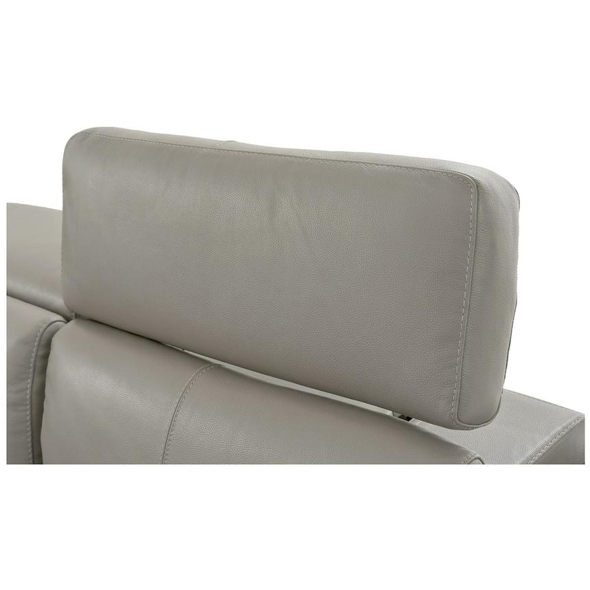 Charlie Light Gray Leather Power Reclining Sectional  alternate image, 7 of 9 images.