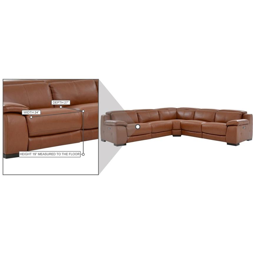Gian Marco Tan Leather Power Reclining Sectional  alternate image, 8 of 8 images.