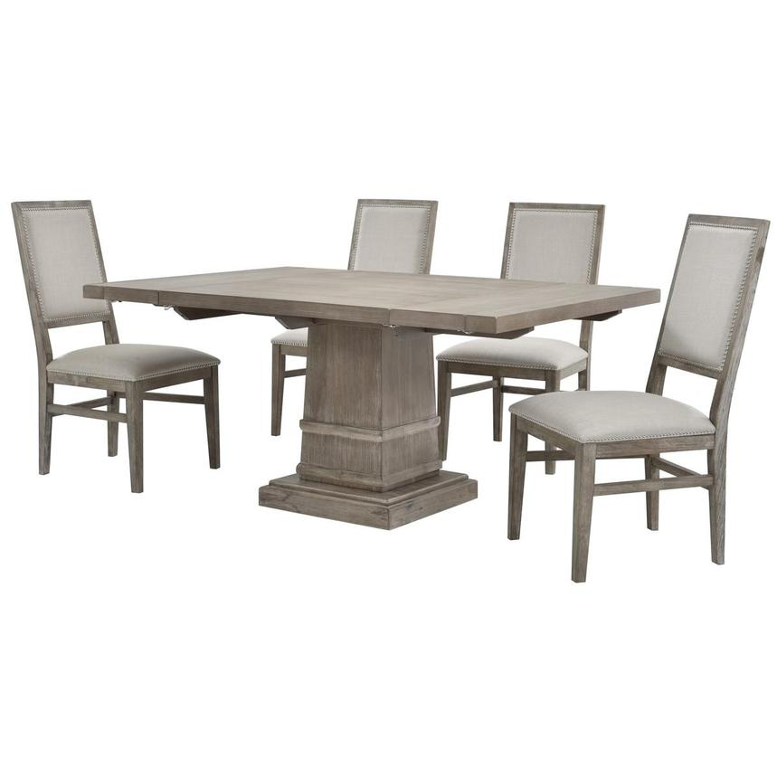 Hudson Gray/Dexter Gray 5-Piece Formal Dining Set  alternate image, 2 of 13 images.