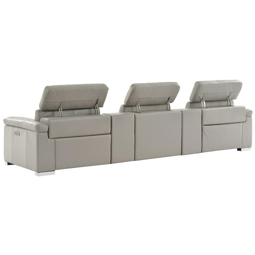 Charlie Light Gray Home Theater Leather Seating  alternate image, 4 of 11 images.