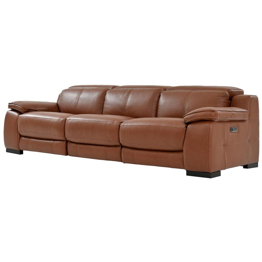 Gian Marco Tan Oversized Leather Sofa  alternate image, 3 of 10 images.