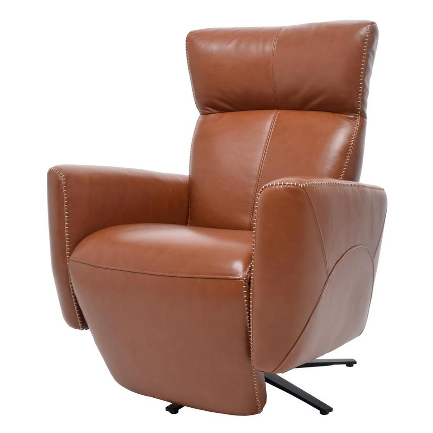 Jon Cognac Power Motion Leather Recliner  alternate image, 2 of 7 images.