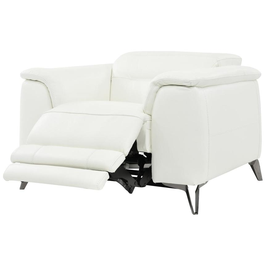 Anabel White Power Motion Leather Recliner  alternate image, 3 of 8 images.
