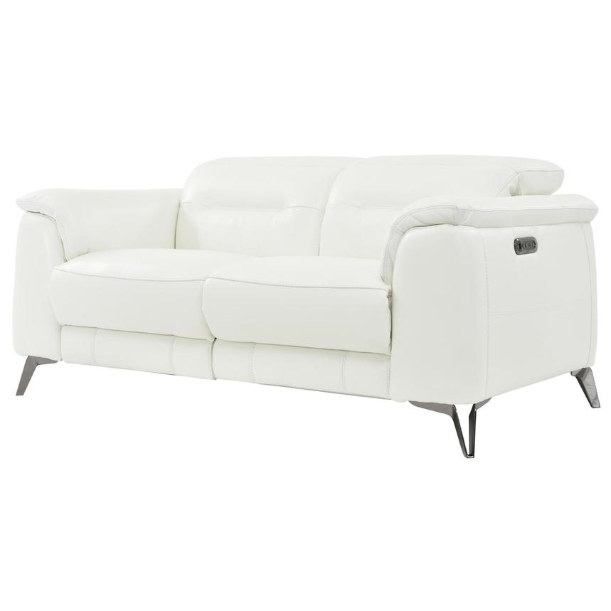 Anabel White Power Motion Leather Sofa  alternate image, 2 of 8 images.
