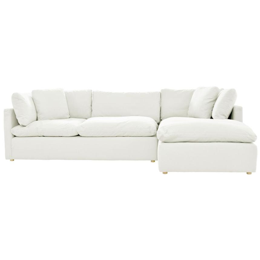 Neapolis White Sofa w/Right Chaise  alternate image, 2 of 5 images.
