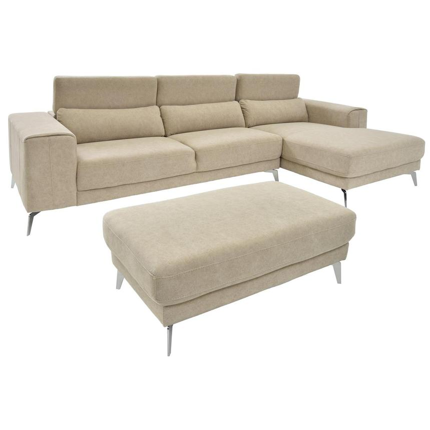 Tyler Sofa w/Right Chaise & Ottoman  alternate image, 2 of 6 images.