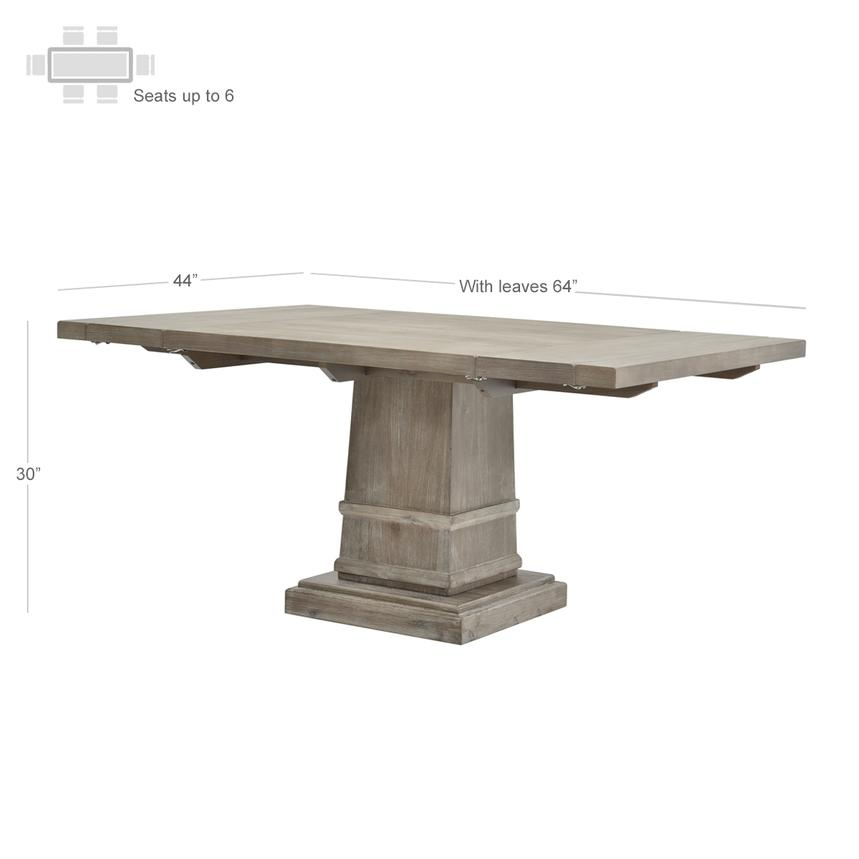 Hudson Gray Extendable Dining Table  alternate image, 4 of 5 images.