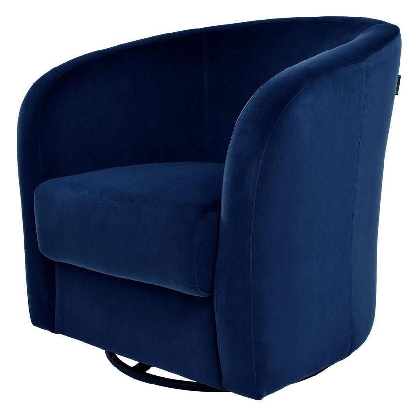 Delia Blue Swivel Accent Chair  alternate image, 2 of 5 images.