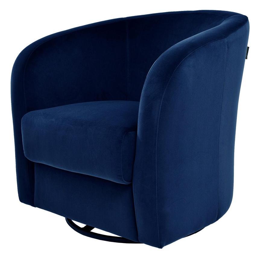 Delia Blue Swivel Accent Chair | El Dorado Furniture