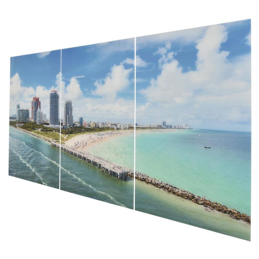 Miami Beach I Set Of 3 Acrylic Wall Art