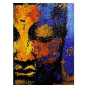 Partial Face Buddha Acrylic Wall Art