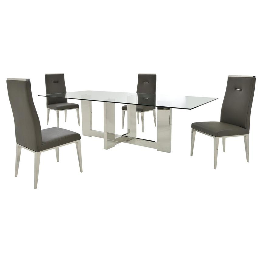 Opus/Hyde I Dark Gray 5-Piece Dining Set  main image, 1 of 11 images.