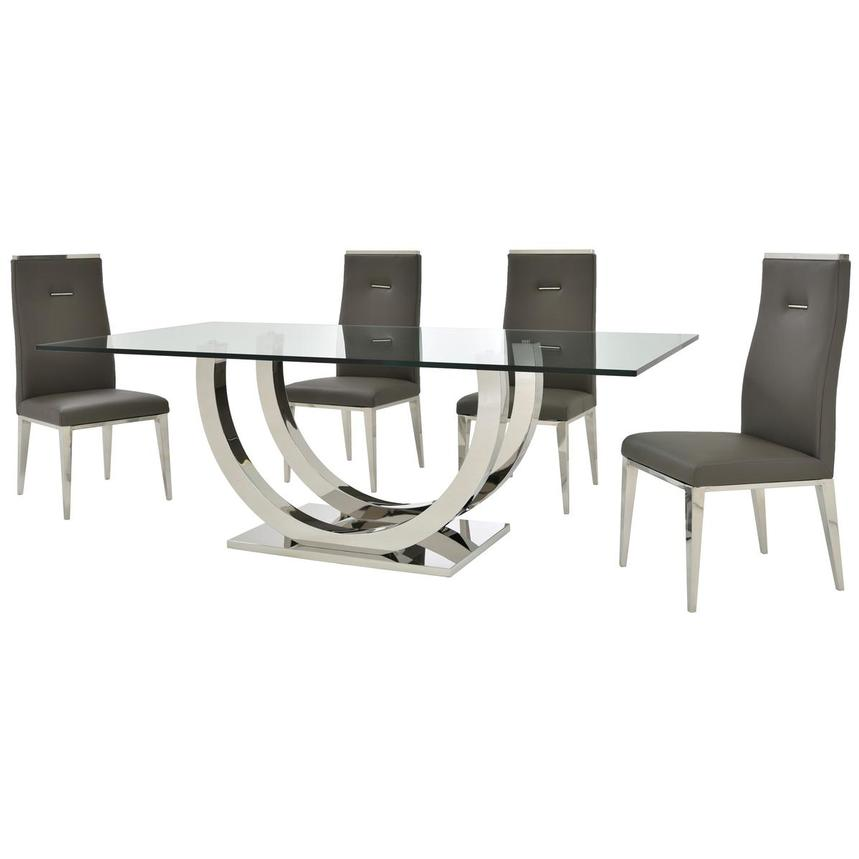 Ulysis/Hyde I Dark Gray 5-Piece Formal Dining Set  alternate image, 2 of 13 images.