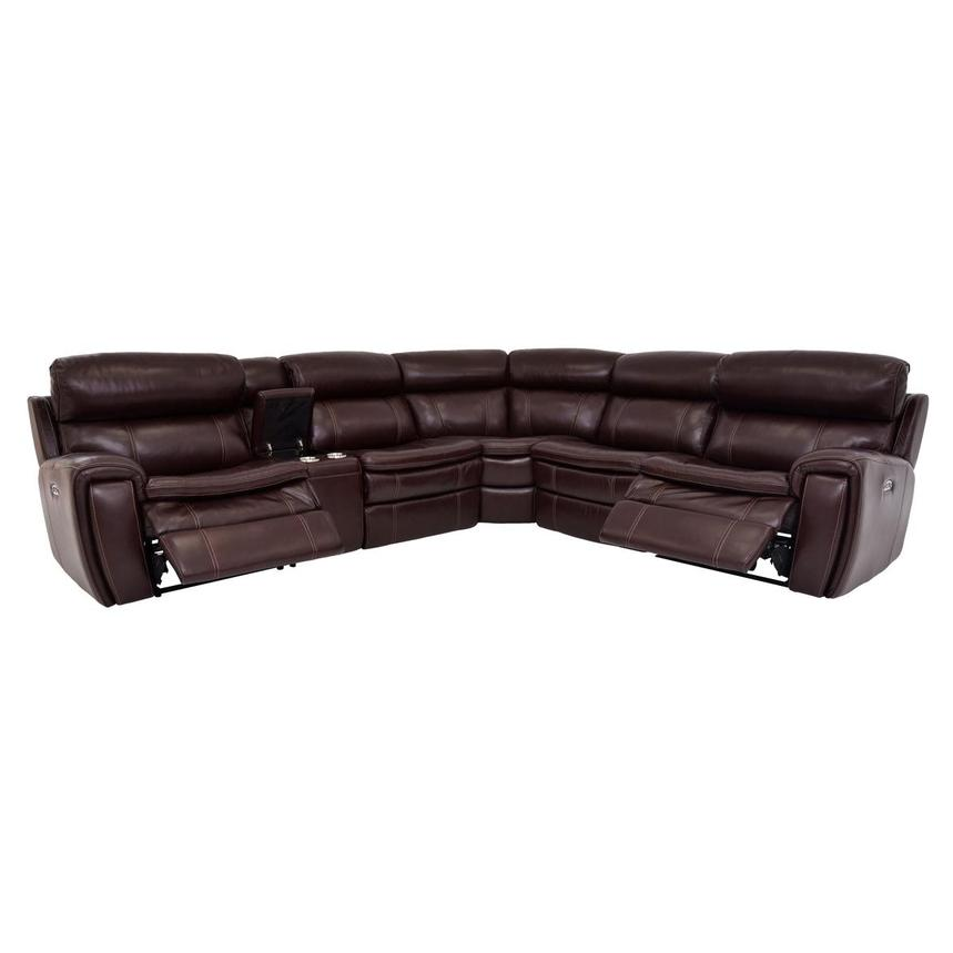 Napa Power Motion Leather Sofa w/Right & Left Recliners  alternate image, 2 of 7 images.