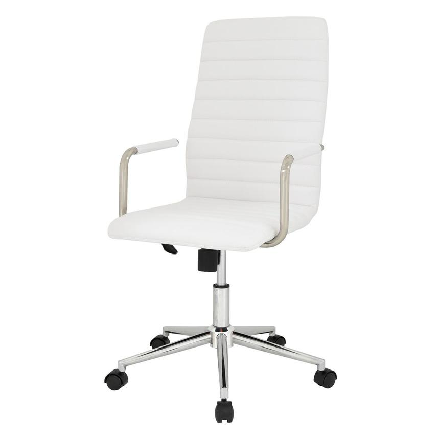 Pivot White High Back Desk Chair  alternate image, 3 of 7 images.