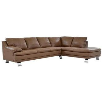 Rio Dark Gray Leather Sofa W Right Chaise El Dorado