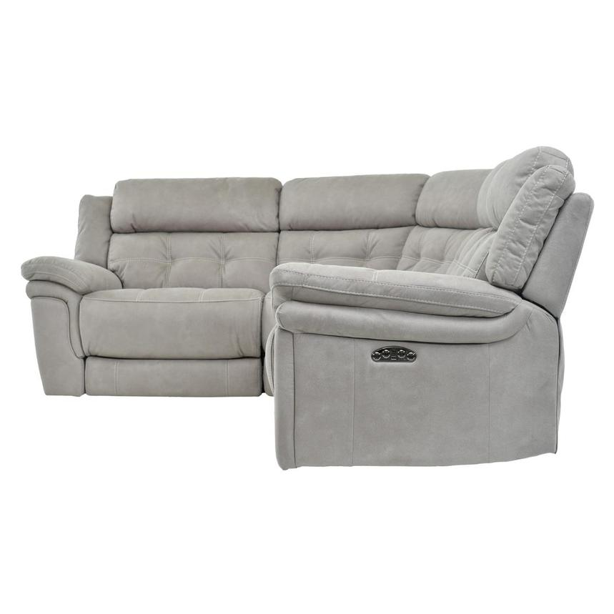 Stallion Ligth Gray Power Motion Sofa w/Right & Left Recliners  alternate image, 3 of 6 images.