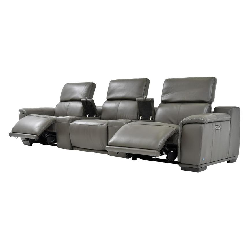 Davis 2.0 Dark Gray Home Theater Leather Seating  alternate image, 3 of 8 images.