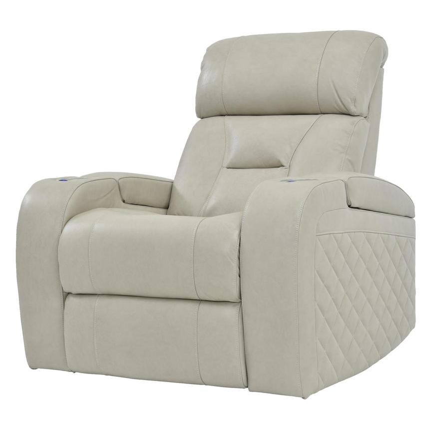 Gio Cream Power Motion Leather Recliner  alternate image, 2 of 9 images.
