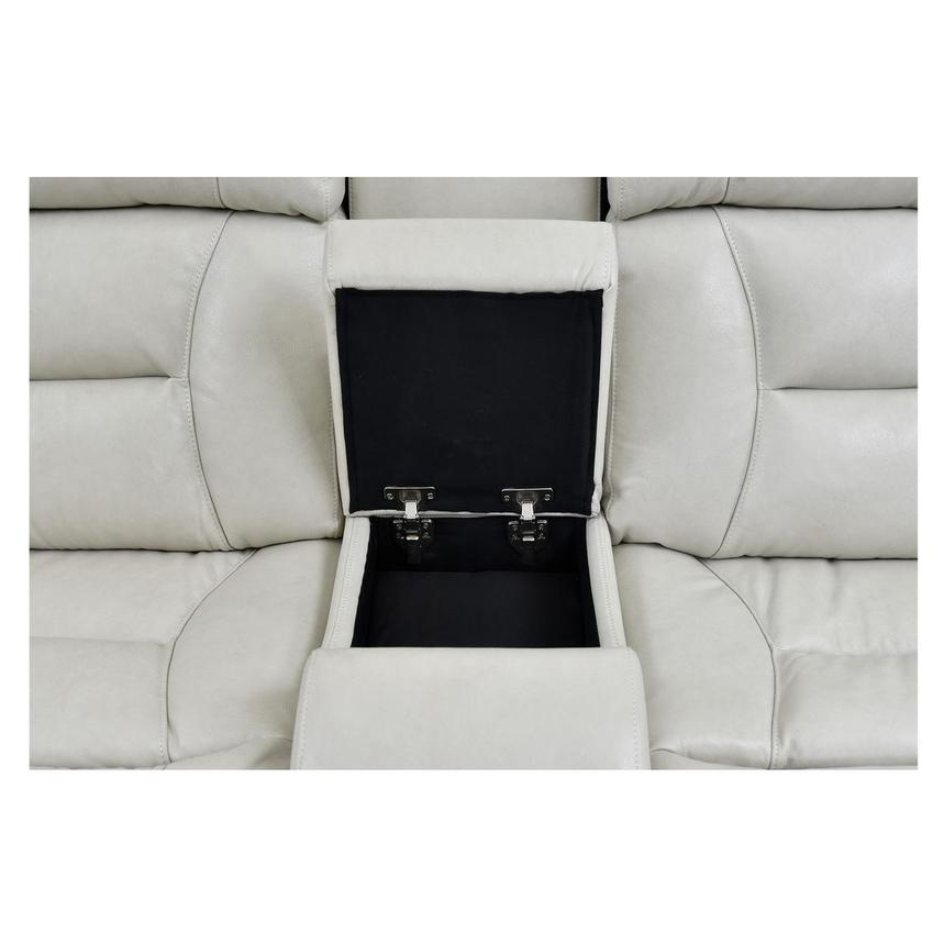 Gio Cream Leather Power Reclining Sofa w/Console  alternate image, 7 of 11 images.