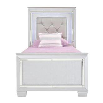 Isabel Gray Twin Panel Bed