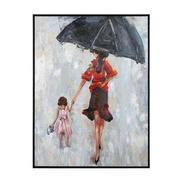 Rainy Stroll Canvas Wall Art  main image, 1 of 3 images.