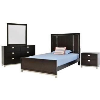 Metro Brown 4-Piece Full Bedroom Set