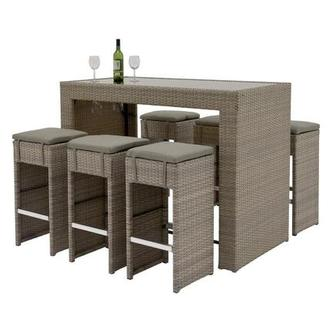 Neilina Brown 7 Piece Patio Set