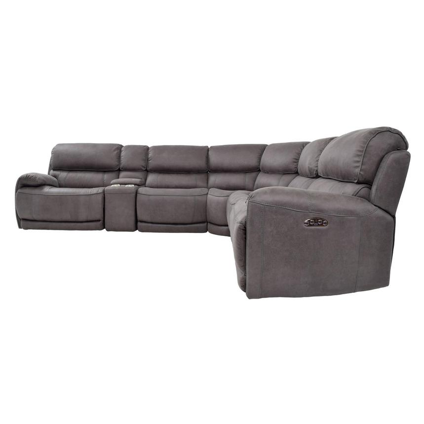 Sampson Gray Power Motion Sofa w/Right & Left Recliners  alternate image, 3 of 7 images.
