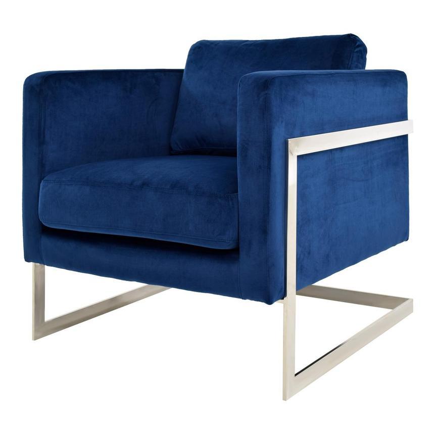 Emily Blue Accent Chair El Dorado Furniture