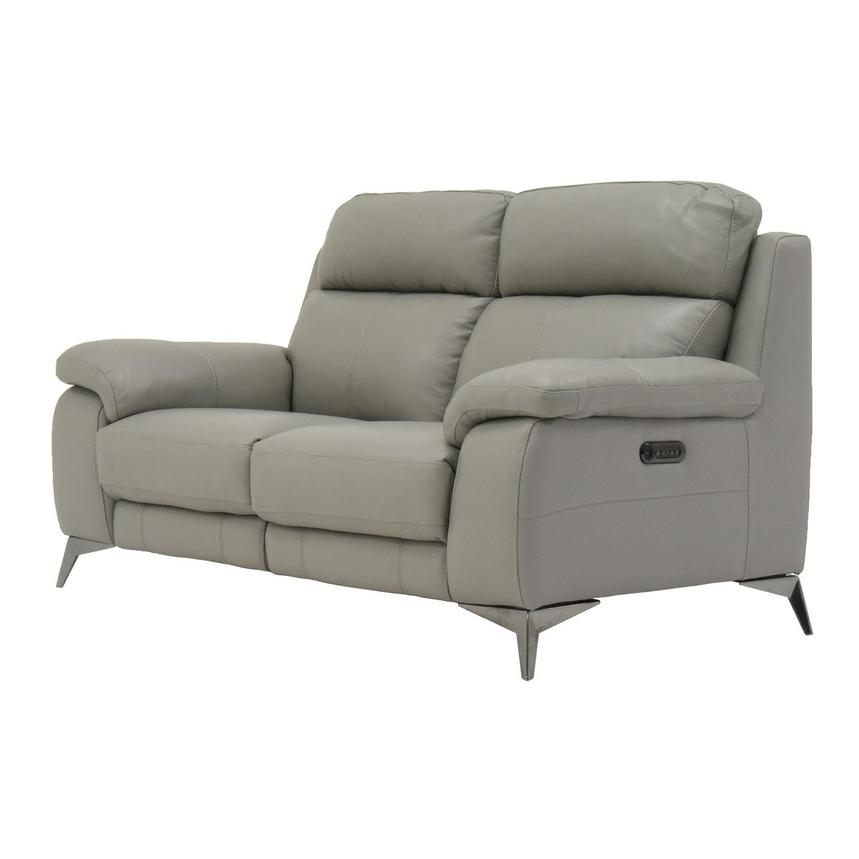 Barry Gray Leather Power Reclining Loveseat  alternate image, 4 of 10 images.
