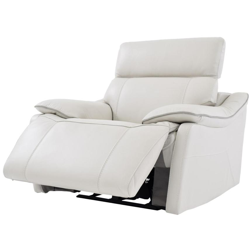 Austin White Power Motion Leather Recliner  alternate image, 3 of 7 images.