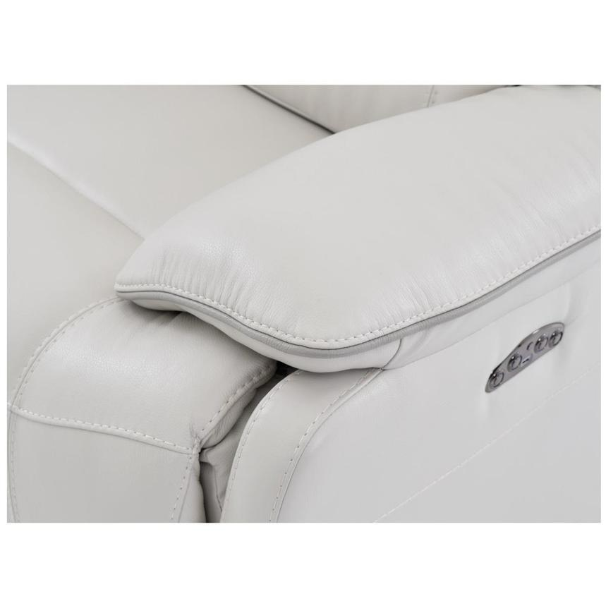 Austin White Leather Power Reclining Loveseat  alternate image, 5 of 8 images.