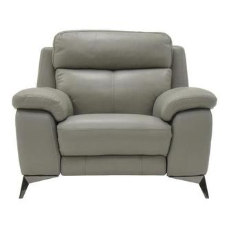 Barry Gray Leather Power Recliner