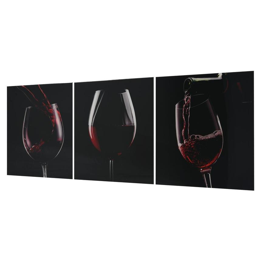 Vino Rosso Set of 3 Acrylic Wall Art  alternate image, 2 of 4 images.
