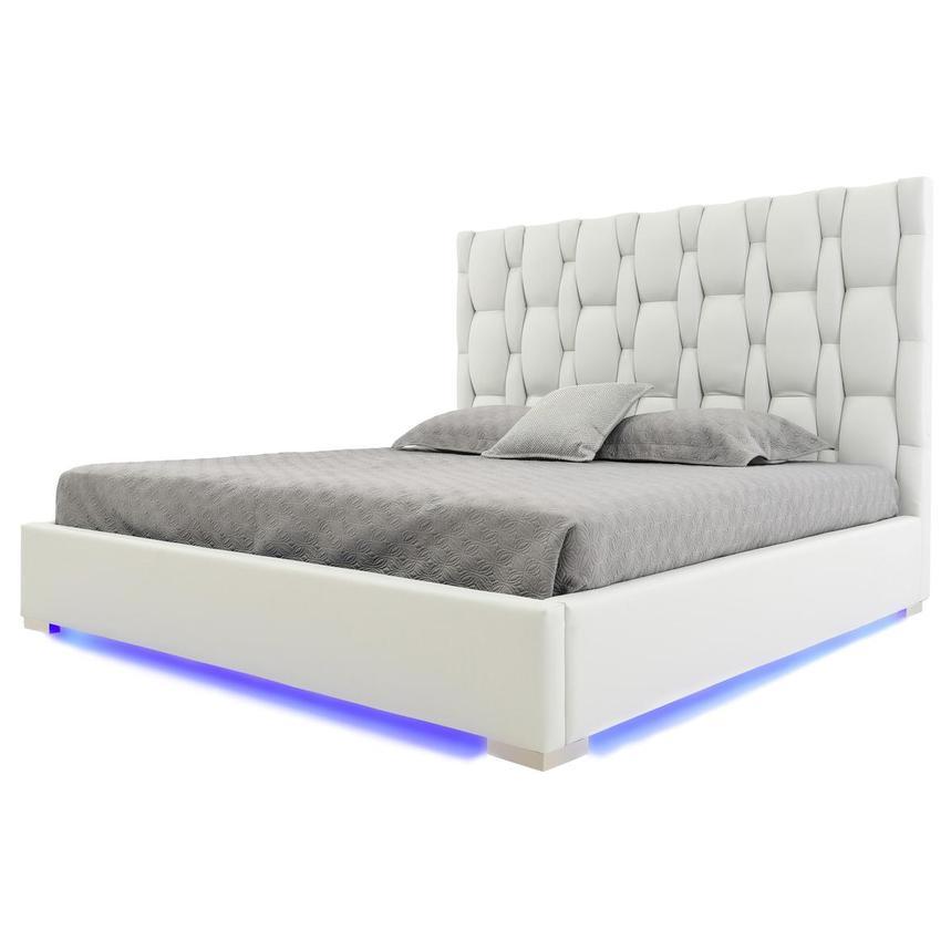 Livia White King Platform Bed El Dorado Furniture