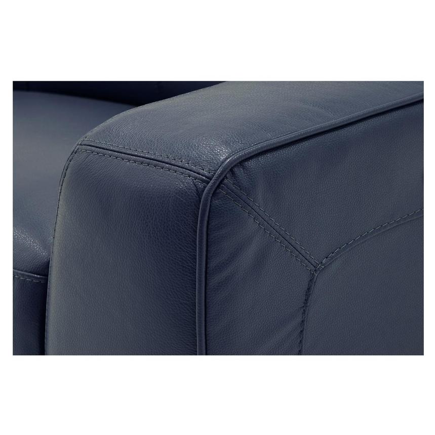 Jay Blue Leather Power Reclining Loveseat  alternate image, 6 of 9 images.