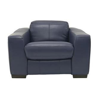 Jay Blue Leather Power Recliner