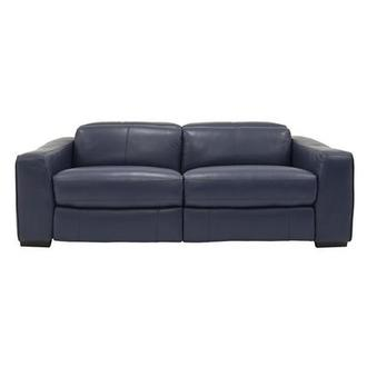 Jay Blue Leather Power Reclining Sofa