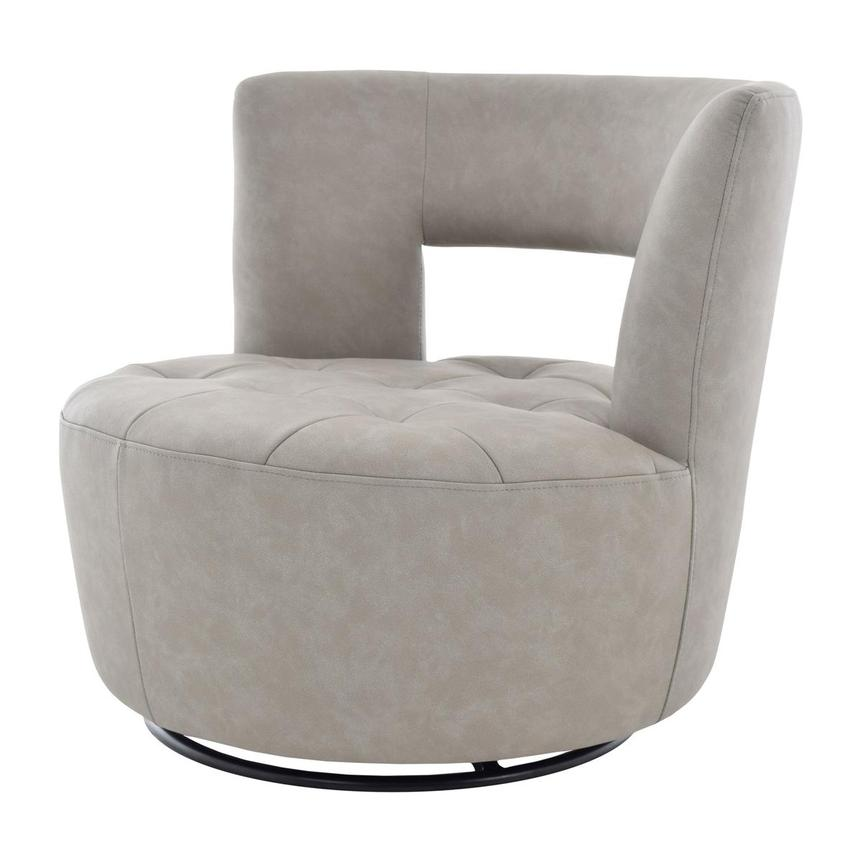 Noale Light Gray Swivel Accent Chair  alternate image, 2 of 6 images.