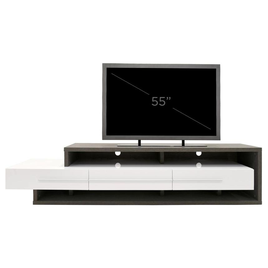 Avanti Gray/White TV Stand  alternate image, 7 of 7 images.