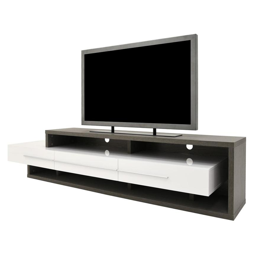 Avanti Gray/White TV Stand  alternate image, 2 of 7 images.